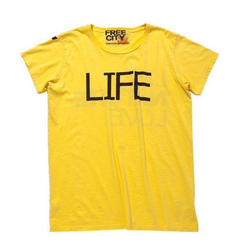 B'z会報102号で稲葉さんが着てた「LIFE」Tシャツはどこのブランド!?